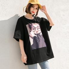 夏天女装韩范社会半袖女衣服2018新款百搭短袖t恤女夏季学生上衣
