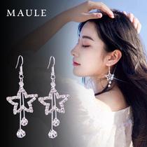 日韩版 耳环女长款 五角星星星时尚 气质欧美夸张个性 耳坠耳夹耳饰品