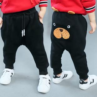 男宝加绒裤子1-3岁4保暖宝宝棉裤男1一2岁婴儿冬加厚幼童外裤冬裤