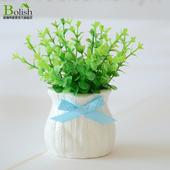 迷你仿真花艺盆景绿植物假花摆件小盆栽花卉家居桌面摆设装 饰品