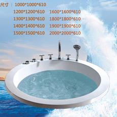 嵌入式圆形浴缸单人双人按摩浴缸亚克力智能恒温加热浴缸1米-2米
