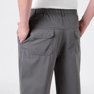 2018夏季中年<span class=H>男</span>士宽松<span class=H>薄</span>款运动裤爸爸<span class=H>缩口</span>休闲<span class=H>长裤</span>棉大码束脚卫裤