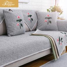 欧式秋冬沙发垫布艺四季简约现代防滑通用沙发坐垫巾套罩全包全盖
