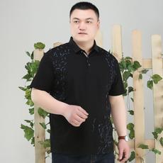 2017霸王鼠5030男士夏季薄款短袖T恤 大码大号胖子肥佬翻领商务潮