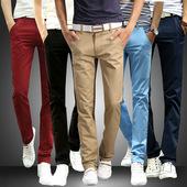 男装 长裤 休闲裤 春夏季清新男式大码 四季青年直筒宽松中腰时尚