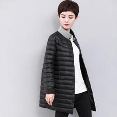 九月陌墨2017冬装新款鸭宝宝韩版大码时尚正品保暖羽绒服中长款女