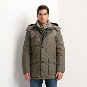 STONES北欧经典户外休闲羊羔毛领重磅保暖防寒男士外套棉服棉衣男