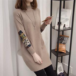 秋冬新款高领羊绒衫女头毛衣长袖中长款针织打底衫5