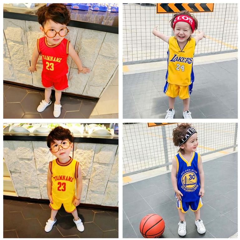 男童篮球服套装夏装2017新款夏季童装儿童背心短裤男女宝宝运动服球服