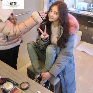 反季棉服女加厚中长款新款2019韩版宽松大码面包服棉衣冬季外套潮