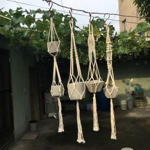 Courtyard 北欧风麻绳吊篮网篮网兜手工编织吊绳花盆创意装饰摆设