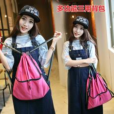 2017春夏新款尼龙双肩包折叠简易女包韩版帆布旅行背包高中生书包