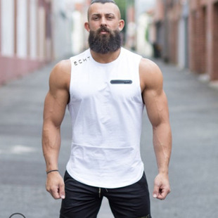 MAN tank top GYM muscle bodybuilding Male sport vest健身背心