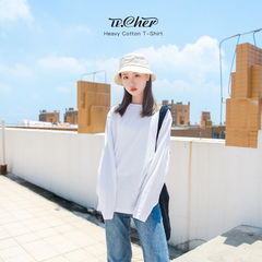 纯白色长袖t恤女上衣打底衫新款纯棉韩版宽松内搭春秋冬女士秋衣