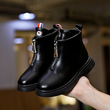 女童马丁靴2019春秋新款短靴子儿童鞋中大童英伦风短皮靴女孩靴子