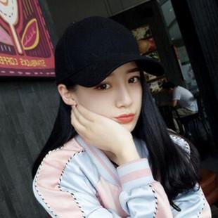 小頭圍帽子男士女款高品質光身純色棉棒球帽彎檐光板帽鴨舌帽情侶