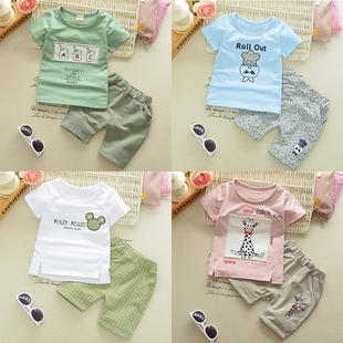Children's wear boy's summer wear short sleeved western styl