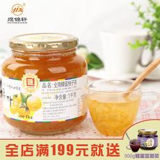 【全南品牌店】 送勺韩国原装进口全南蜂蜜柚子茶1kg冲饮果茶果酱
