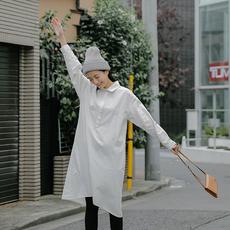 叙旧秋冬文艺简约衬衫裙百搭打底连衣裙/意外温柔/Q5795