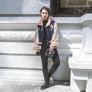 9S家原创女装秋冬季2016新款欧美短款宽松长袖夹克加厚休闲外套潮