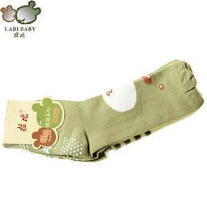 拉比春夏款<span class=H>婴儿</span><span class=H>袜子</span>萌<span class=H>熊</span>半筒袜2双装男童卡通堆堆袜女宝宝棉袜薄