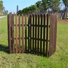 户外碳化防腐木栅栏 别墅花园围栏 宠物护栏 阳台种菜隔断篱笆墙