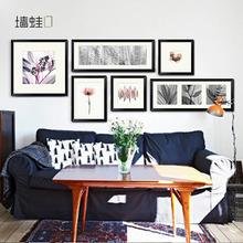 墙蛙正版创意照片墙组合沙发背景墙壁画现代简约家居画客厅装饰画