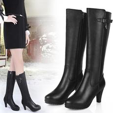 2016冬季澳州百丽正品真皮女长靴女鞋过膝长靴女高筒靴高跟女靴子