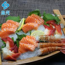 牡丹虾刺身拼盘冰鲜新鲜挪威进口三文鱼北极贝牡丹虾生鲜