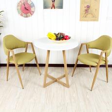 现代简约餐桌小圆桌子圆形洽谈桌接待休闲桌子阳台桌椅组合咖啡桌