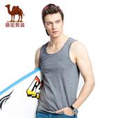 骆驼男装夏季男士运动型坎肩紧身背心青年修身潮流透气健身打底衫