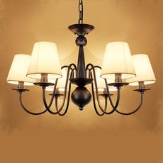 美式吊灯简约现代乡村客厅灯地中海欧式复古铁艺餐厅卧室5头灯具
