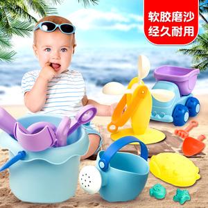 儿童沙滩玩具套装软胶玩沙子工具<span class=H>宝宝</span>婴儿水桶洗澡挖沙子铲子玩具