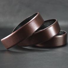 啡钻石纹真皮带条 进口面料 头层牛皮底 带条(不含扣头) DK392