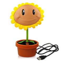 伊品堂 太阳花充电台灯 向日葵台灯 可爱儿童书房学习用 USB充电