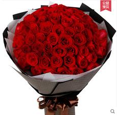 七夕情人节送99朵红玫瑰西安鲜花店咸阳汉中渭南榆林宝鸡同城速递