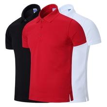 男短袖 男装 保罗衫 半袖 夏季纯色polo衫 翻领T恤宽松大码 体恤大红色