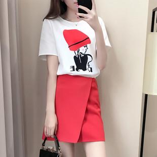 席特夏装2017新款韩版女装显瘦时尚两件套装裙