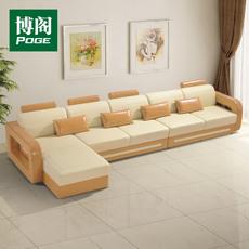 博阁 真皮沙发 定制 大小户型客厅转角组合沙发 简约现代皮艺沙发