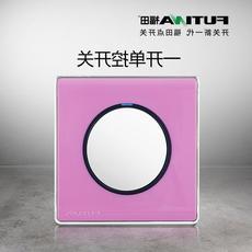 福田点开关一开单控单联开关插座面板墙壁电源LED灯圆形开关CF01