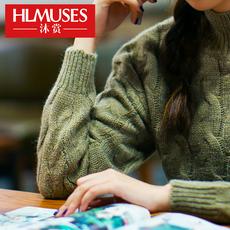 2016秋冬新款韩版麻花打底衫女针织套头百搭长袖女装半高领毛衣女