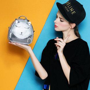 富兰佩斯 原创萌猫迷你小背包双肩包女包可爱小包包休闲百搭潮包
