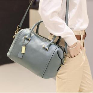 真皮女包欧美时尚潮流软皮手提包单肩斜跨女士包包牛皮枕头包软包
