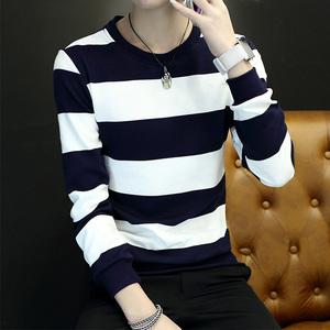 2016秋季新款青年韩版修身潮大码体恤男士长袖t恤男上圆领衣服潮男士打底衫