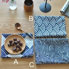 传统日式餐垫寿司餐巾风吕敷棉麻布艺家居餐巾餐垫盖布摆拍背景布
