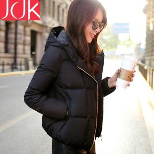 jcjk羽绒服女短款2016新款加厚大码显瘦韩版女外套连帽冬季羽绒衣
