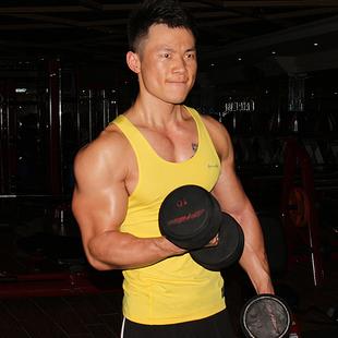 霸道肌肉原创男士夏季运动健身背心修身紧身衣器械训练无袖汗衫