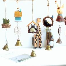 创意日式可爱萌物阳台儿童房女生日礼物田园卡通铃铛挂件风铃挂饰
