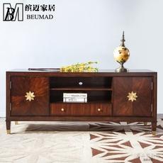 缤迈家居现代美式实木电视柜新美式简约客厅地柜轻奢时尚视听柜