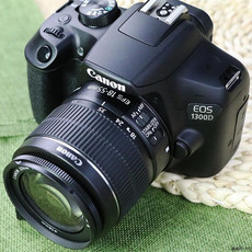 花呗分期购 Canon/佳能入门单反数码相机 EOS 1300D套机 带WIFI